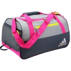 Adidas gym duffle bag rare in pink and silver